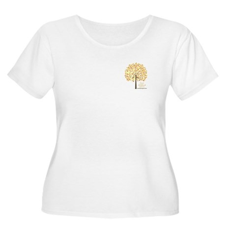Gold Ribbon Tree Women's Plus Size Scoop Neck T-Sh