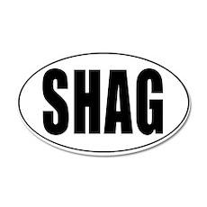 Shag Euro Oval Sticker 35x21 Oval Wall Decal