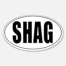 Shag Euro Oval Sticker Sticker (Oval)
