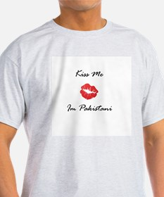 Kiss me Im Pakistani Ash Grey T-Shirt