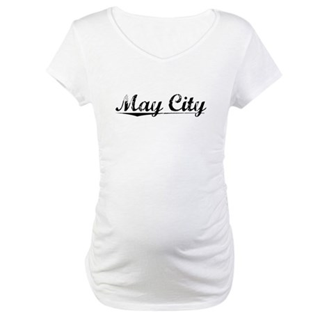 May City, Vintage Maternity T-Shirt