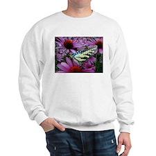 Yellow Swallowtail with Echinacea Sweatshirt