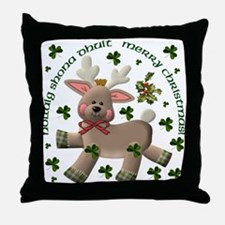 Christmas Reindeer Throw Pillow