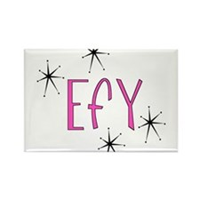 "EFY ""60s Mod"" Rectangle Magnet"