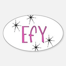"EFY ""60s Mod"" Oval Bumper Stickers"