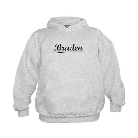Braden, Vintage Kids Hoodie