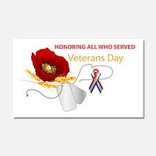 Veterans Day Car Magnet 20 x 12