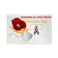 Veterans Day Rectangle Magnet (10 Pack) Magnets