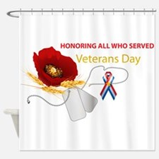 Veterans Day Shower Curtain