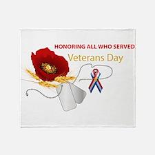 Veterans Day Throw Blanket