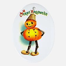 Pumpkin Man Oval Ornament