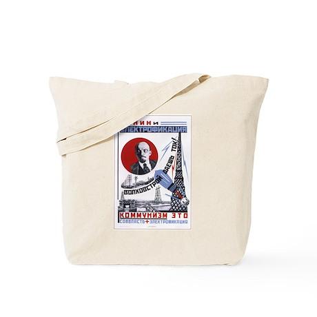 Lenin USSR Tote Bag