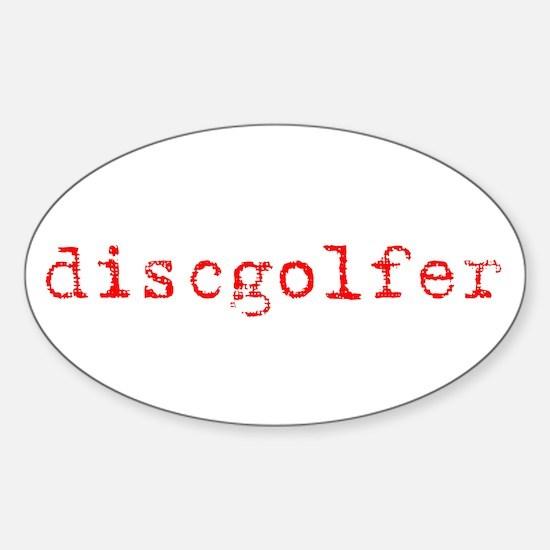 Disc Golf Propoganda Oval Decal