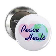 "Peace Heals 2.25"" Button (100 pack)"