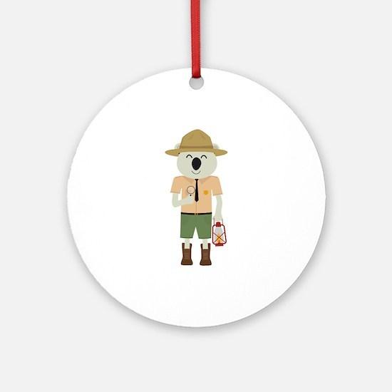 koala ranger with hat Round Ornament