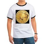 Black-Gold Buffalo-Indian Ringer T