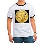 Black-Gold Indian/Buffalo Ringer T