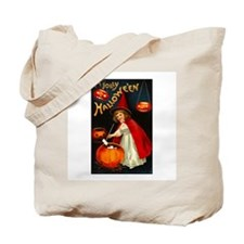 Little Red Witch Tote Bag