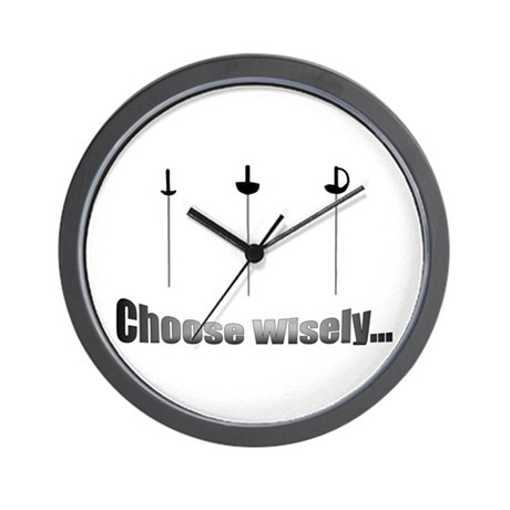 Choose Wisely Wall Clock by fwfencing
