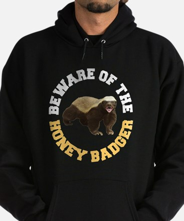 Honey Badger Beware Hoodie (dark)