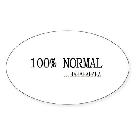 100% Normal Oval Sticker