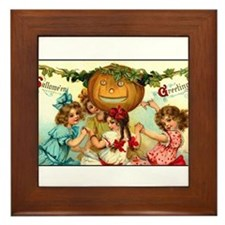 Victorian Halloween Party Framed Tile