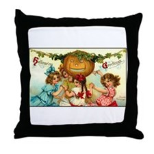 Victorian Halloween Party Throw Pillow
