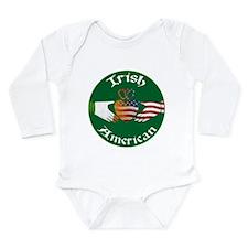 Irish American Claddagh Long Sleeve Infant Bodysui