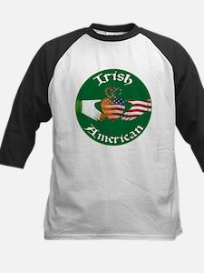 Irish American Claddagh Kids Baseball Jersey