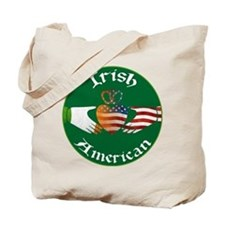 Irish American Claddagh Tote Bag