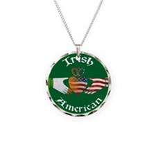 Irish American Claddagh Necklace Circle Charm