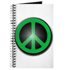 Green Peace Symbol glow Journal