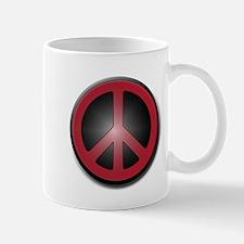 Glowing Red Peace Symbol Mug