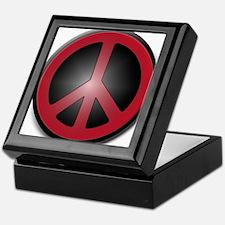Glowing Red Peace Symbol Keepsake Box