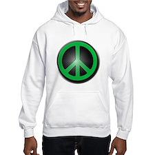 Green Peace Symbol glow Hoodie Sweatshirt