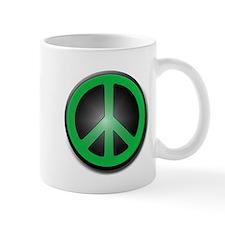 Green Peace Symbol glow Mug