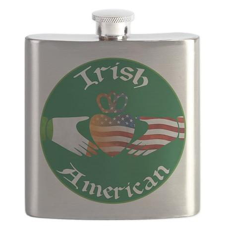 Irish American Claddagh Flask