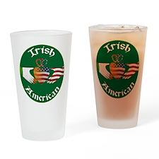 Irish American Claddagh Drinking Glass