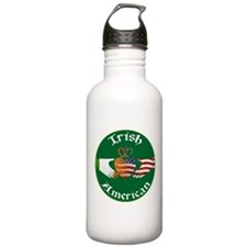 Irish American Claddagh Water Bottle