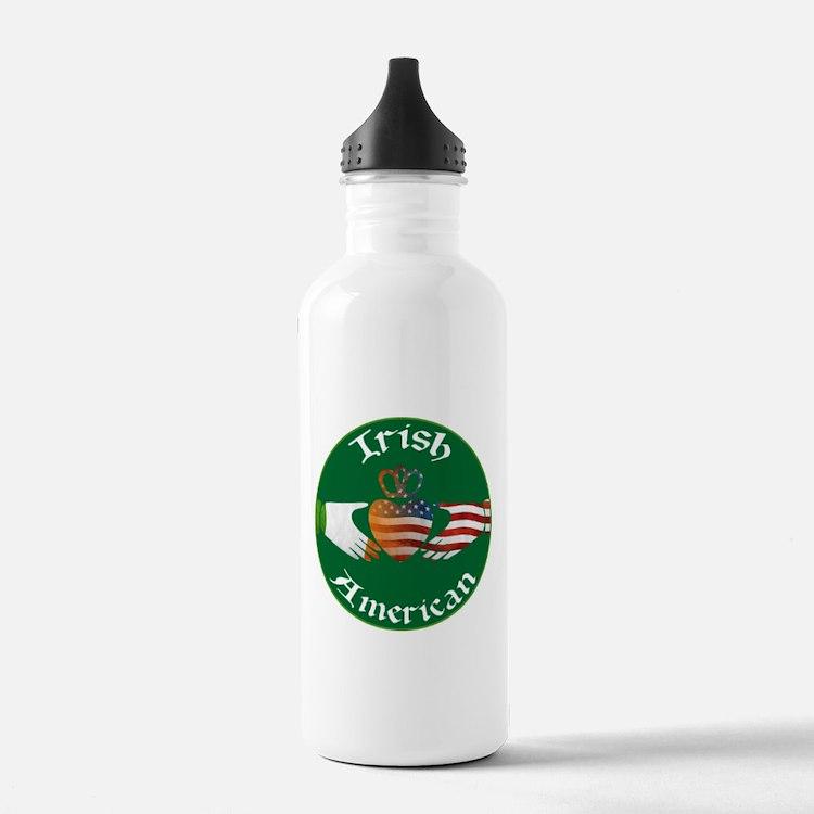 Irish American Claddagh Water Bottle