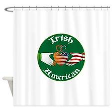 Irish American Claddagh Shower Curtain