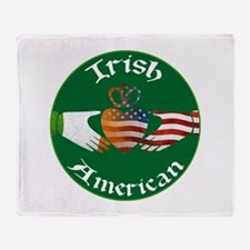 Irish American Claddagh Throw Blanket