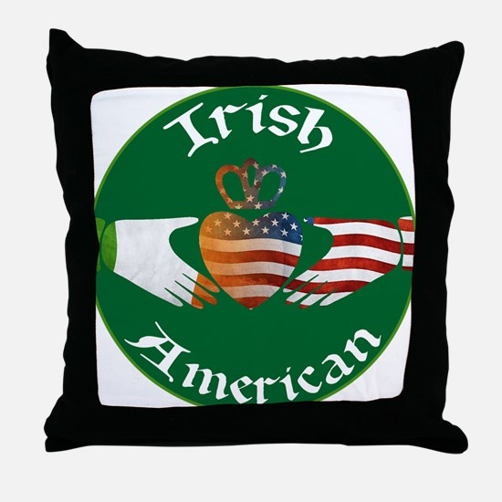 Irish American Claddagh Throw Pillow