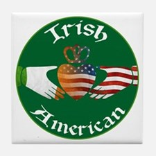 Irish American Claddagh Tile Coaster