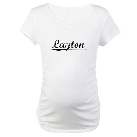 Layton, Vintage Maternity T-Shirt