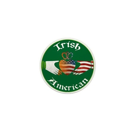 Irish American Claddagh Mini Button