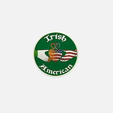 Irish American Claddagh Mini Button