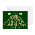 Merry Christmas Tree (Green) Cards (Pk of 10)