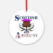 Scottish American Thistle Ornament (Round)