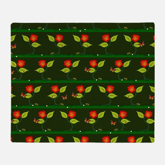 Plants and flowers Throw Blanket